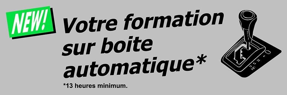 Formation boite automatique